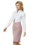 Zakelijk vrouwelijke blouse op maat