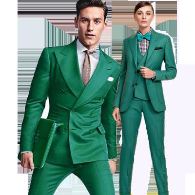 Zakenvrouw kleding groen
