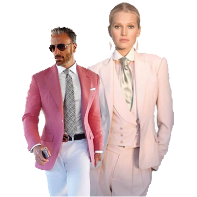 Zakelijk roze vrouwen kostuum