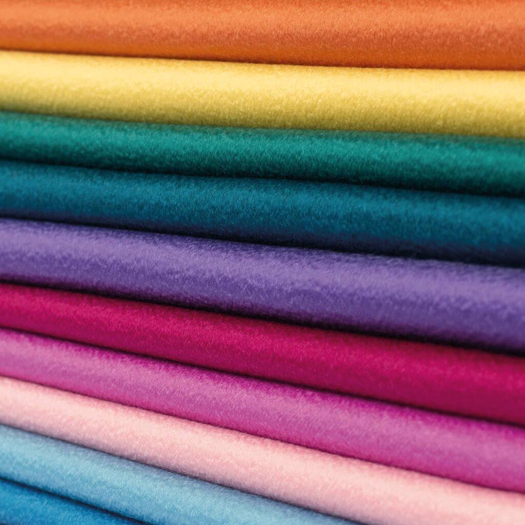 Gekleurde stoffen voor dames pak zakelijk