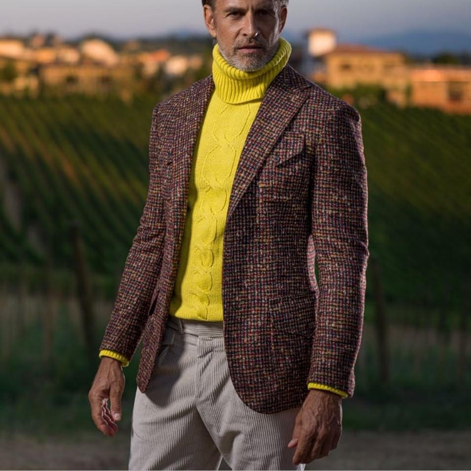 Tweed stof voor maatkostuum