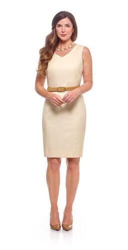 Creme-kleurig-zakelijk-vrouwelijk-jurk