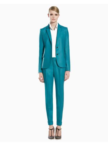 Dames pak zakelijk en casual groen