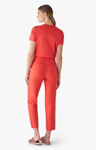 Dames pantalon op maat gemaakt in rood met stijlovolle pasvorm
