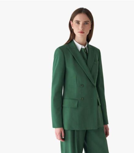 Groen dames maatpak zakelijk en vrouwelijk stoer kostuum