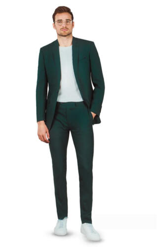 Groen pak op maat gemaakt van Holland and Sherry stoffen