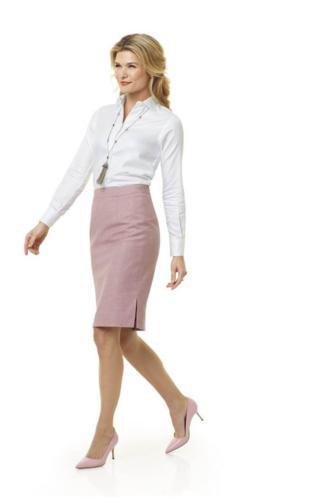 Kokerrok gemaakt van roze zachte flannel Sherry kash