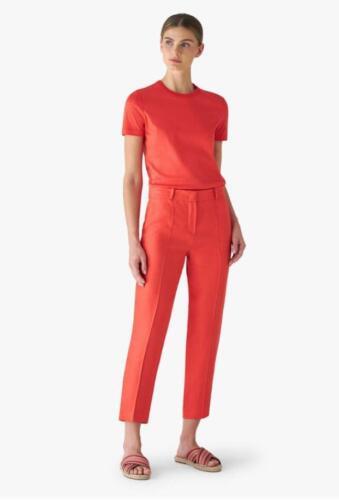 Oranje rode vrouwelijke pantalon in zomerse cool wool
