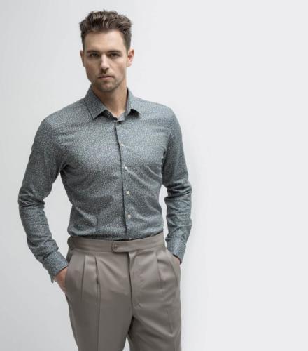 Pantalon met bandplooi en maathemd