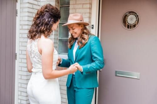 Dames trouwkostuum gemaakt voor huwelijk Inge