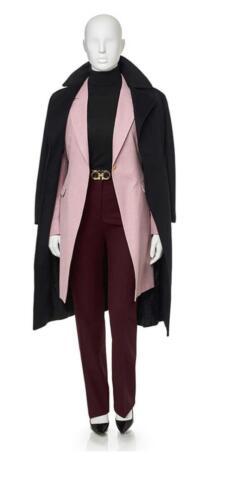 Roze colbert, zakelijk lang jasje dames