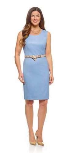 Zakelijke-jurk-licht-blauw-op-maat-gemaakt