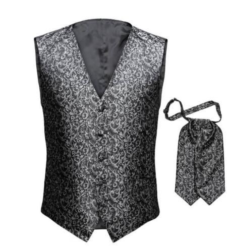 gilet en bijpassende stropdas gemaakt van zelfde stof